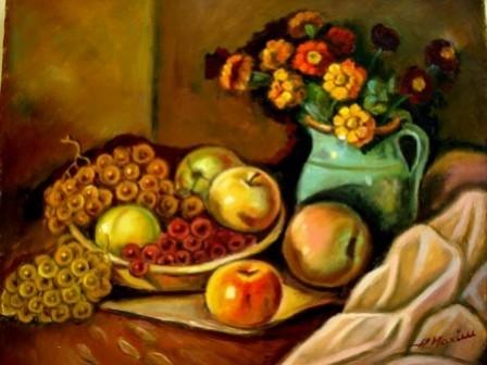 Picturi cu flori Tablou simfonia toamnei5