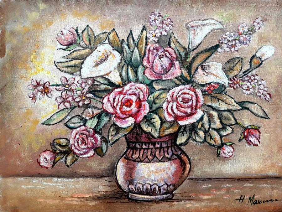 Picturi cu flori Vaza cu flori15