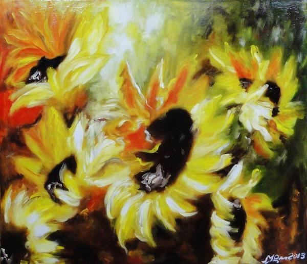 Picturi cu flori Sunflowers