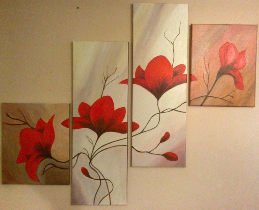 Picturi cu flori Buchet de maci