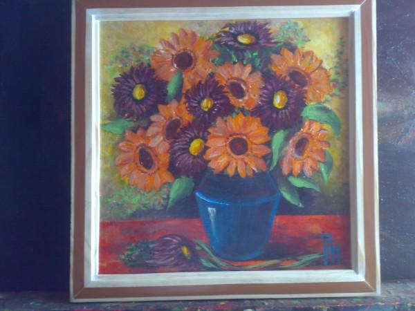 Picturi cu flori Gerbere si margarete