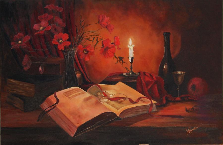 Picturi cu flori Lumina calda