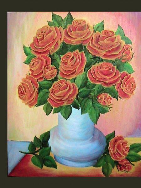 Picturi cu flori Trandafiri de foc