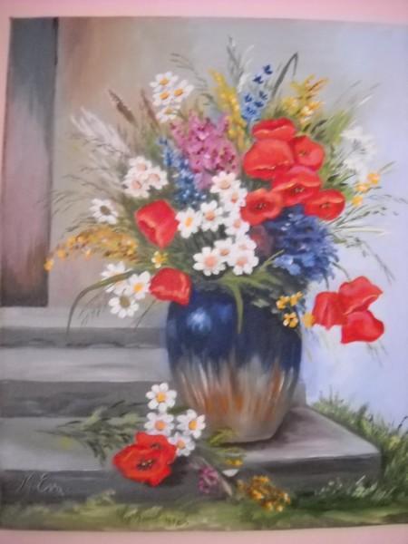 Picturi cu flori  diverse flori de camp