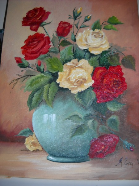 Picturi cu flori Alti trandafiri