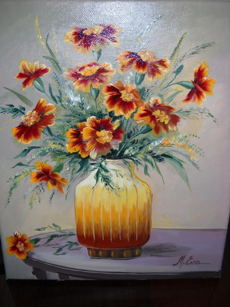 Picturi cu flori Buchet din gradina