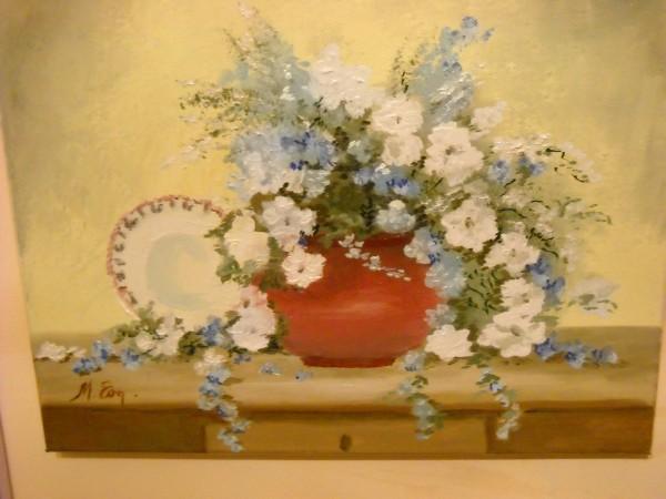 Picturi cu flori Buchetel albastru