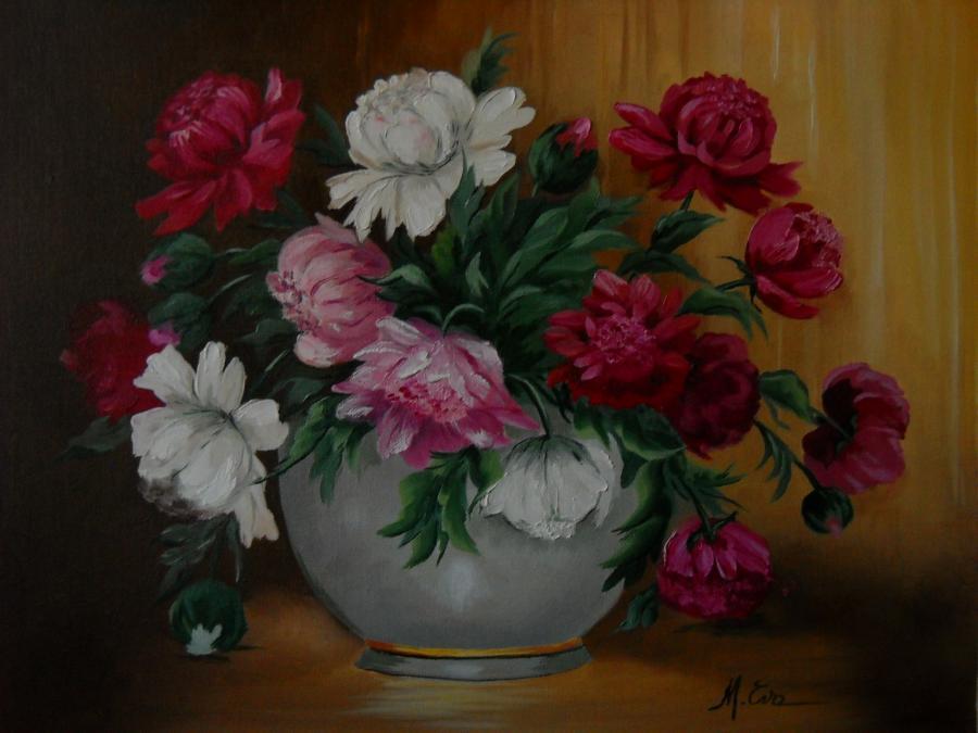 Picturi cu flori bujori 20