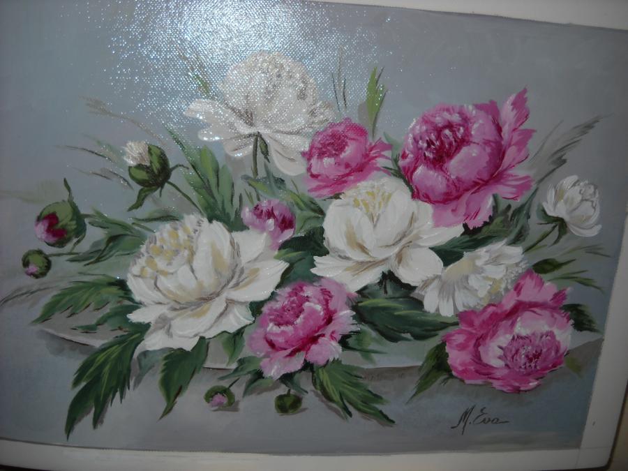 Picturi cu flori bujori  30