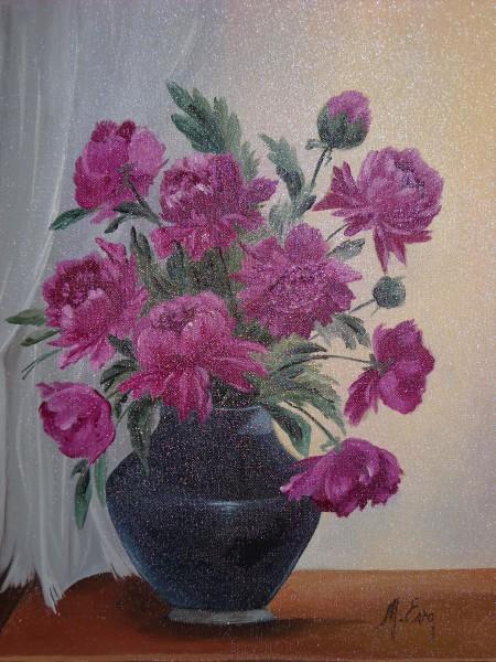 Picturi cu flori Bujori  6