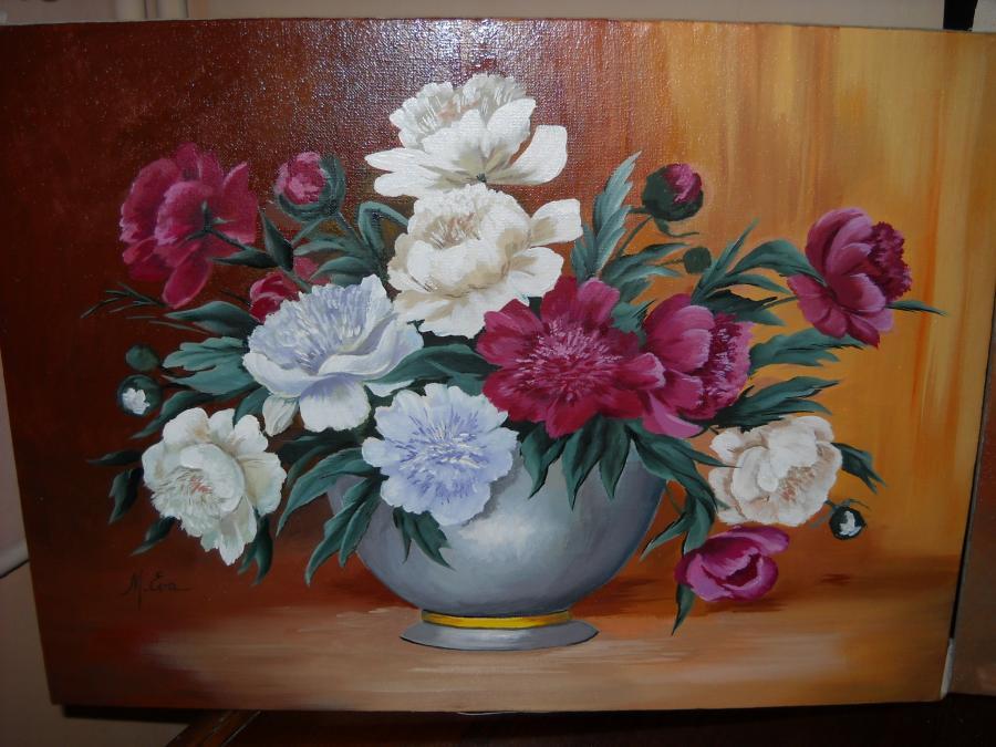 Picturi cu flori Bujori BU 5
