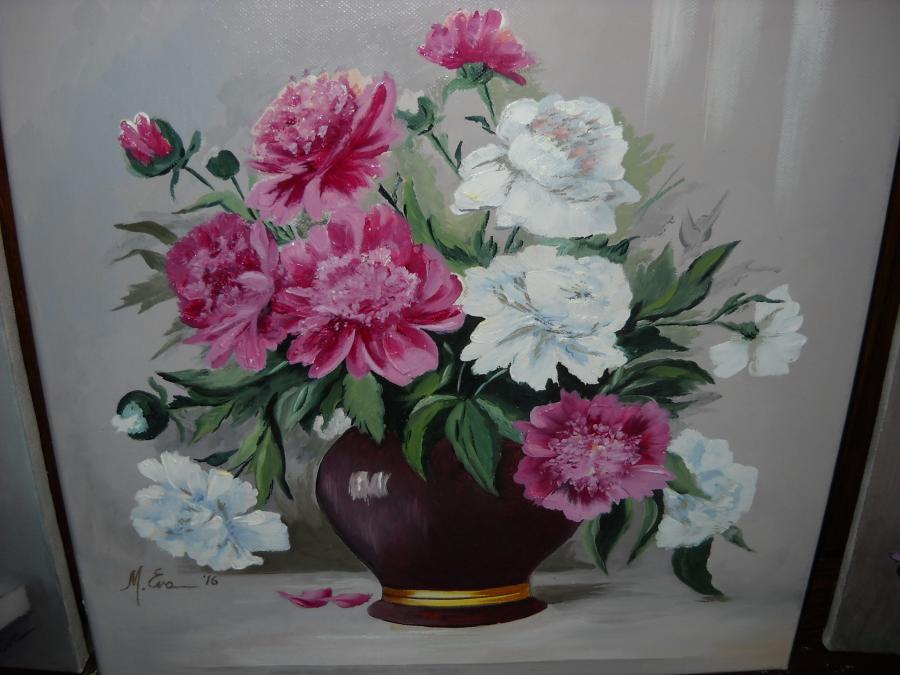 Picturi cu flori Bujori BU 6