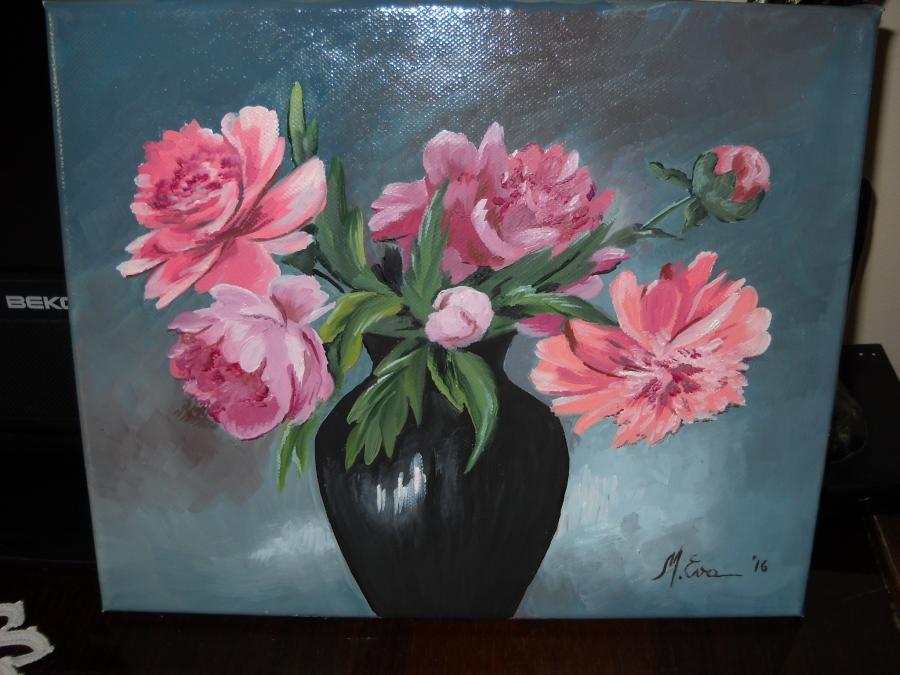 Picturi cu flori Bujori  U5