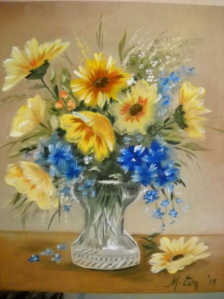 Picturi cu flori Culese dimineata