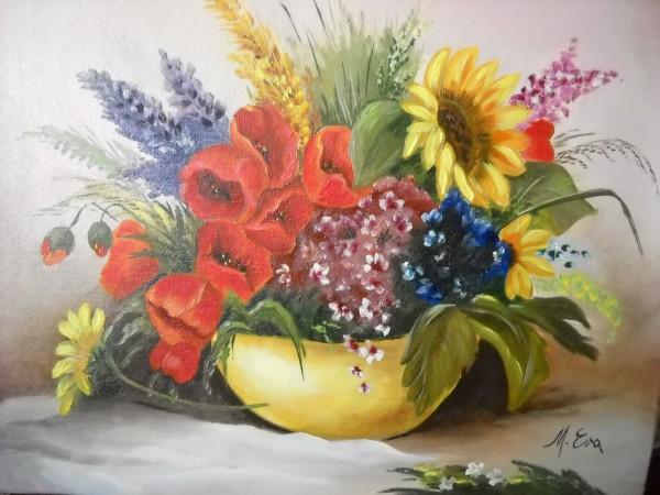 Picturi cu flori Culorile verii