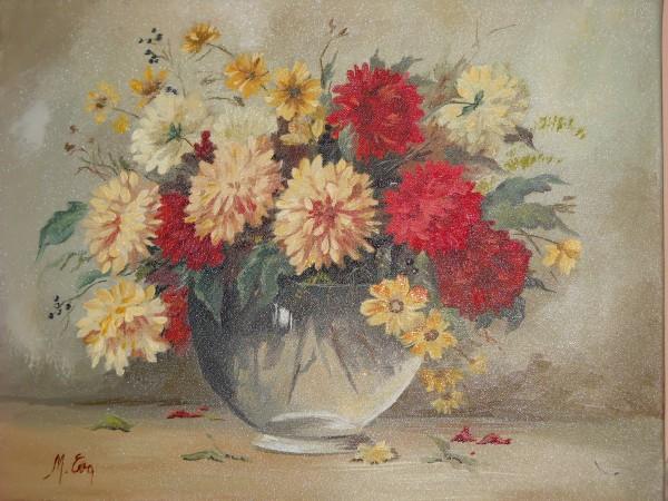 Picturi cu flori Dalii multicolore