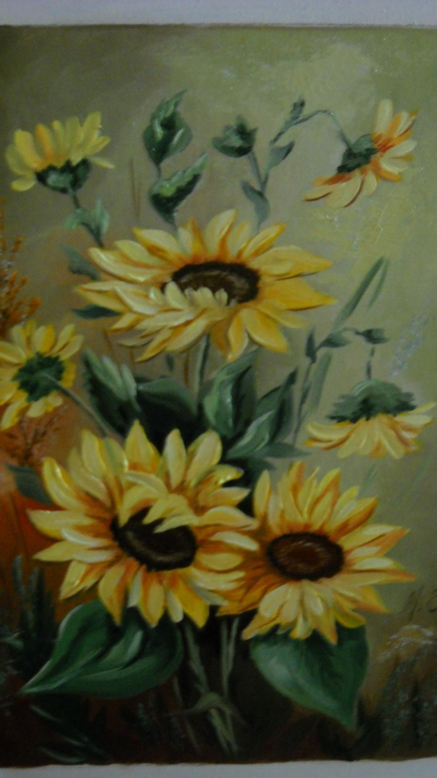 Picturi cu flori floarea soarelui 20