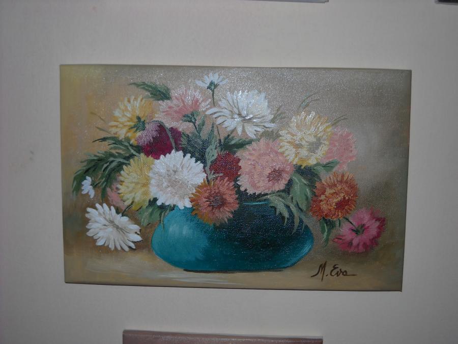 Picturi cu flori flori multicolore adunate