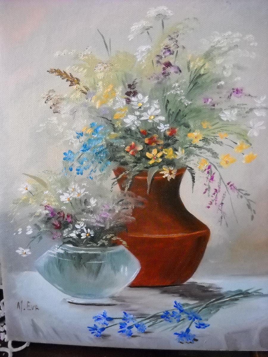 Picturi cu flori floricele de pe campii