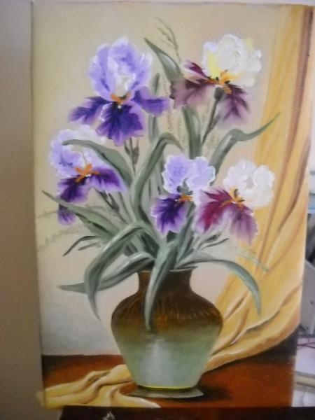 Picturi cu flori Irisi  movi