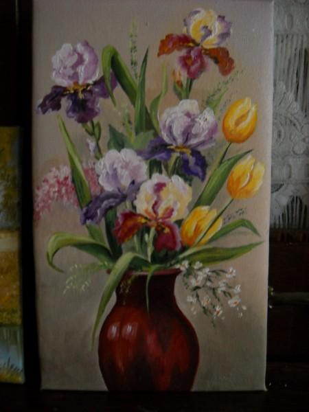 Picturi cu flori Irisi cu lalele
