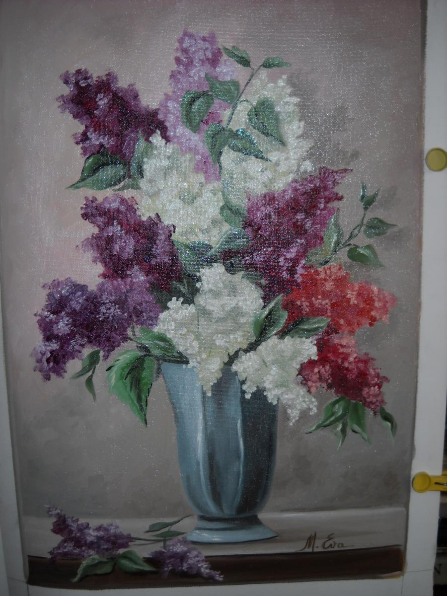 Picturi cu flori liliac 9