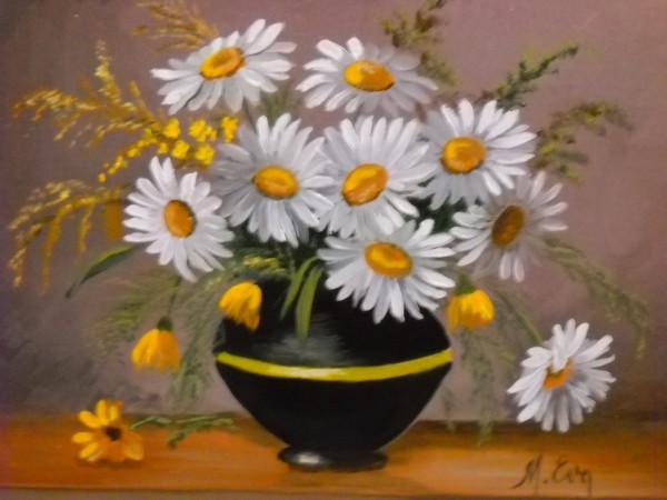 Picturi cu flori Margarete.