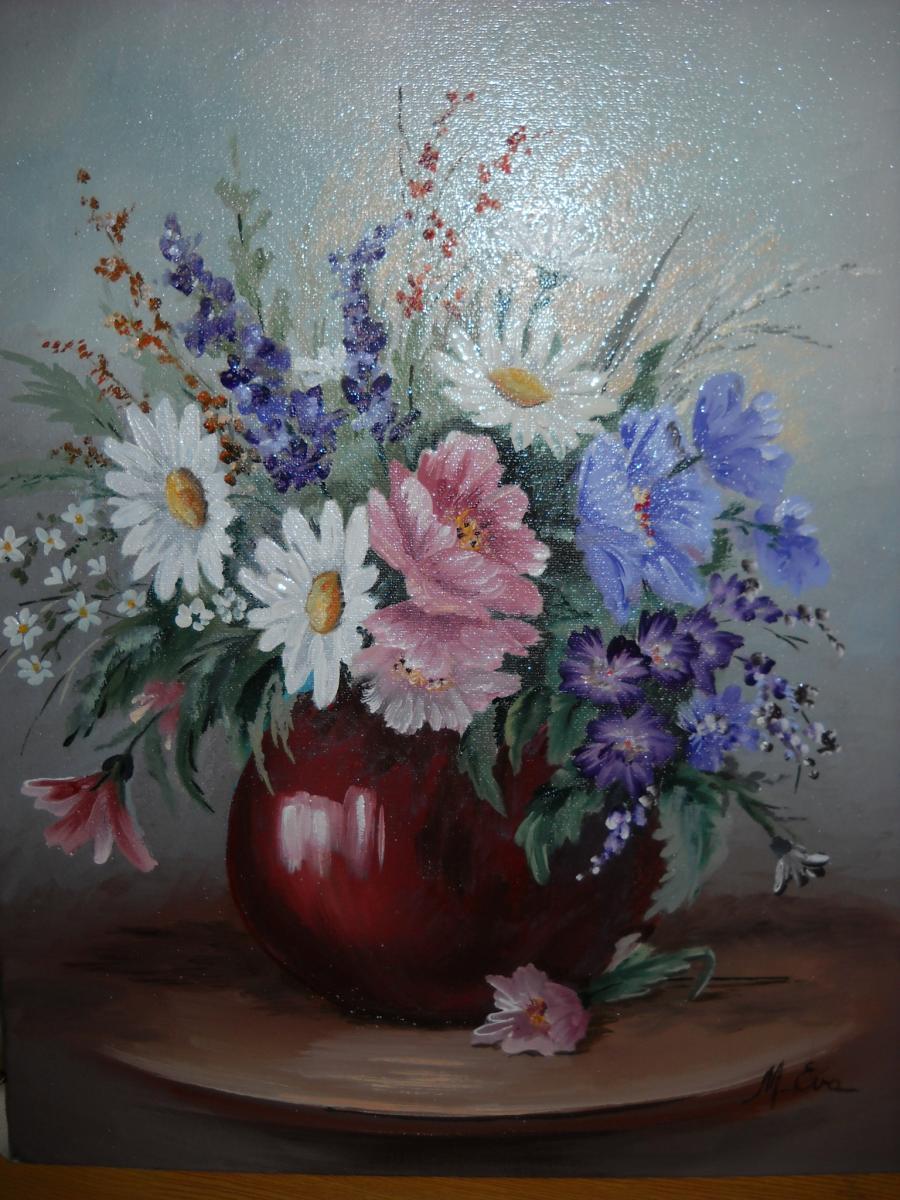 Picturi cu flori Margarete si altele