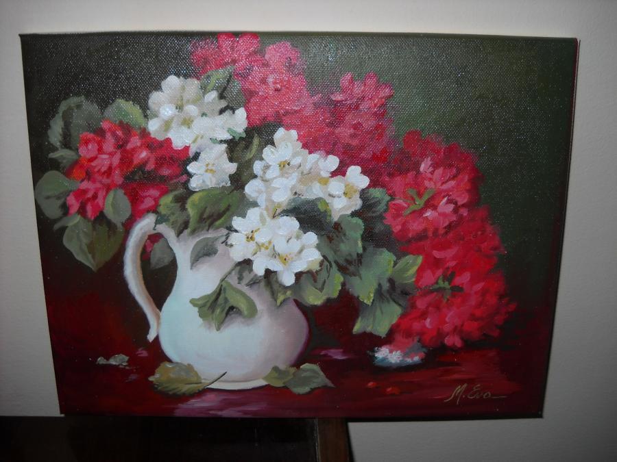 Picturi cu flori muscatli