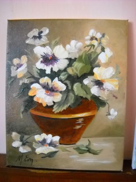 Picturi cu flori Panselute4