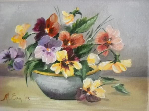 Picturi cu flori Panselute 4