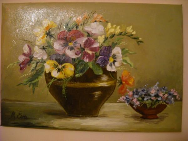 Picturi cu flori Panselute 6