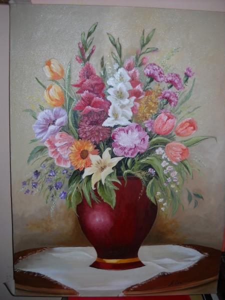 Picturi cu flori Prietenie in culori 3
