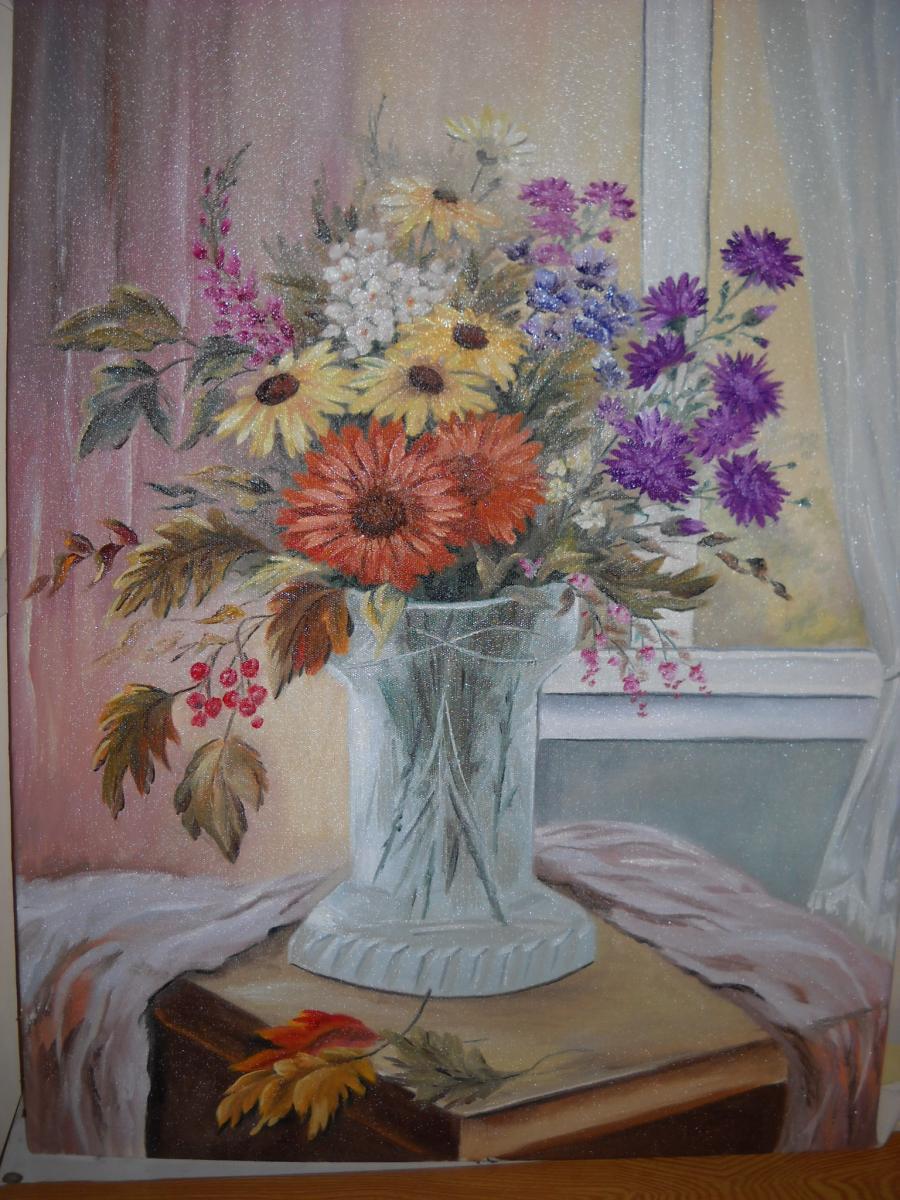 Picturi cu flori tablou cu toamna
