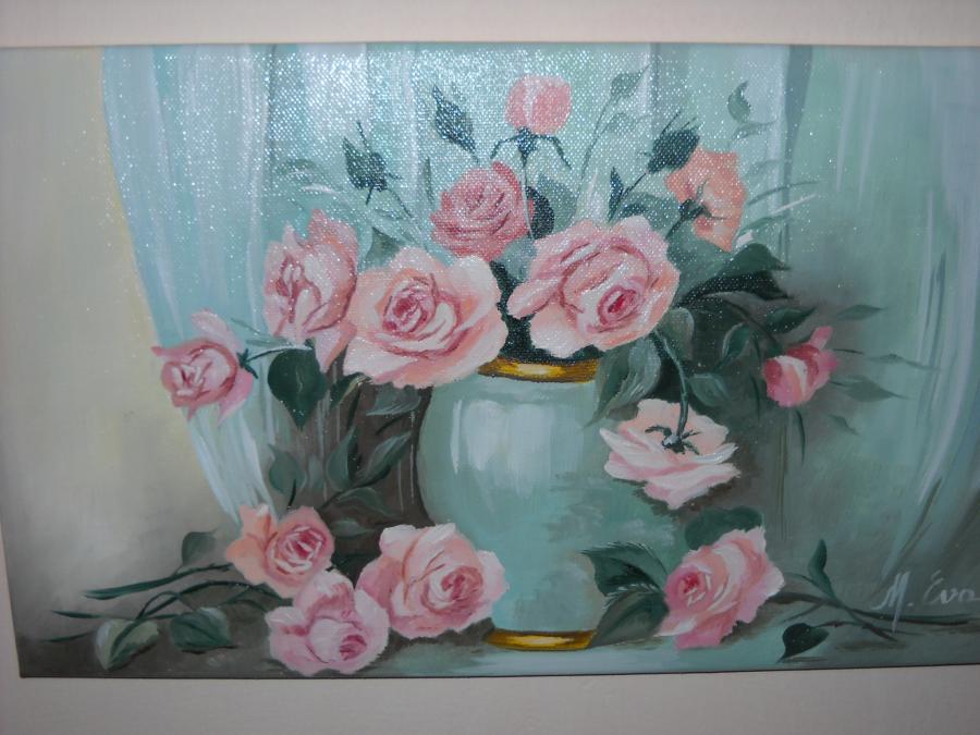 Picturi cu flori trandafiri 6
