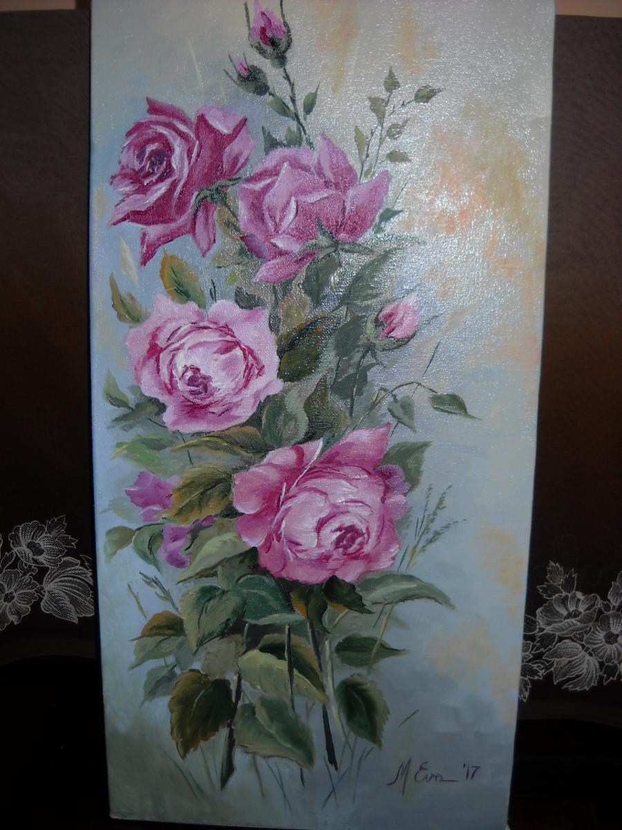Picturi cu flori trandafiri cu aniversare