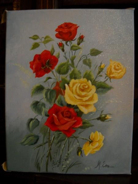 Picturi cu flori Trandafiri din gradina 2