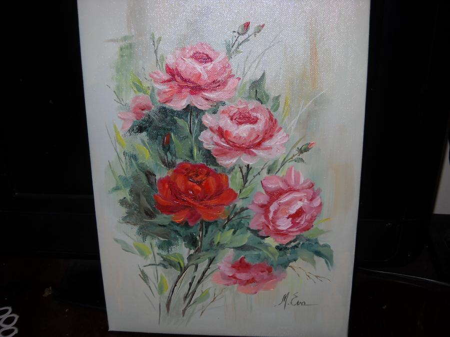 Picturi cu flori Trandafiri  T10