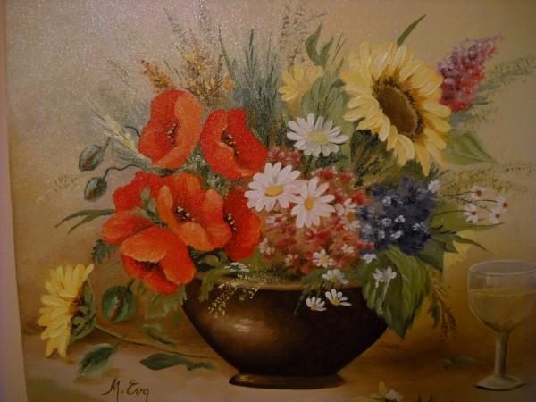 Picturi cu flori Vara prins in buchet