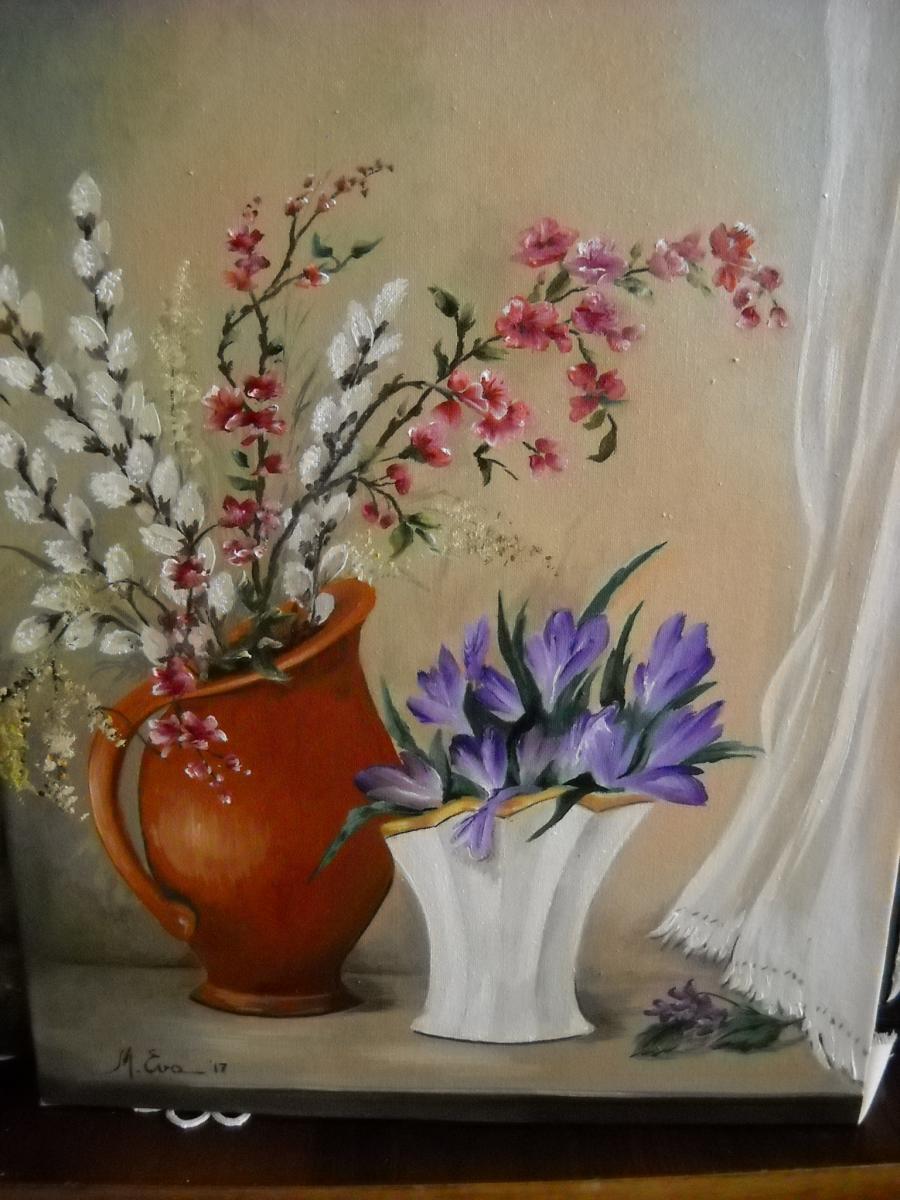 Picturi cu flori Vine primavara
