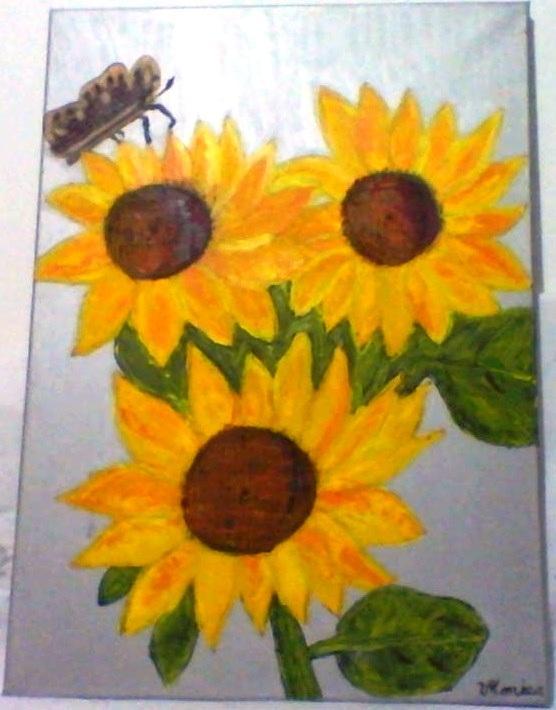 Picturi cu flori fluture pe floarea-soarelui