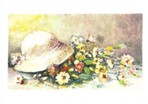 Picturi cu flori Flori cu palarie