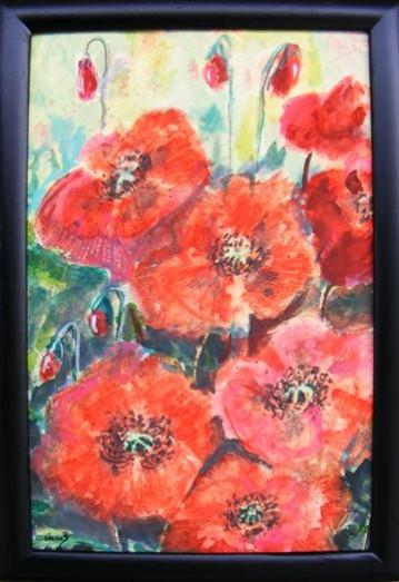 Picturi cu flori Maci salbatici