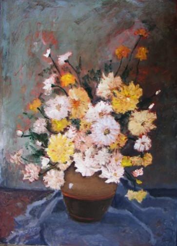 Picturi cu flori Natura statica cu crizanteme