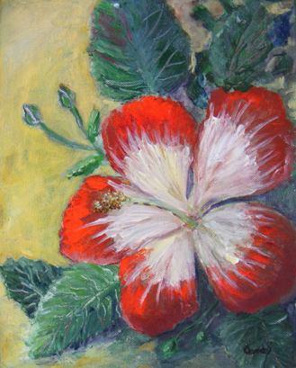 Picturi cu flori Trandafir japonez 1