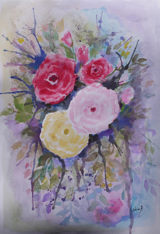 Picturi cu flori Un vis cu roze
