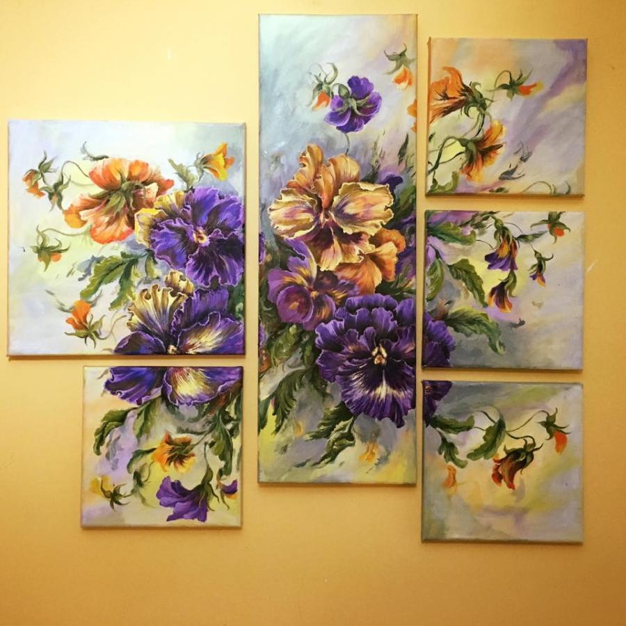 Picturi cu flori Fericire in culori