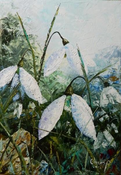 Picturi cu flori Prin iarba