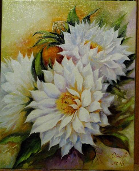 Picturi cu flori Bujori 1-2013