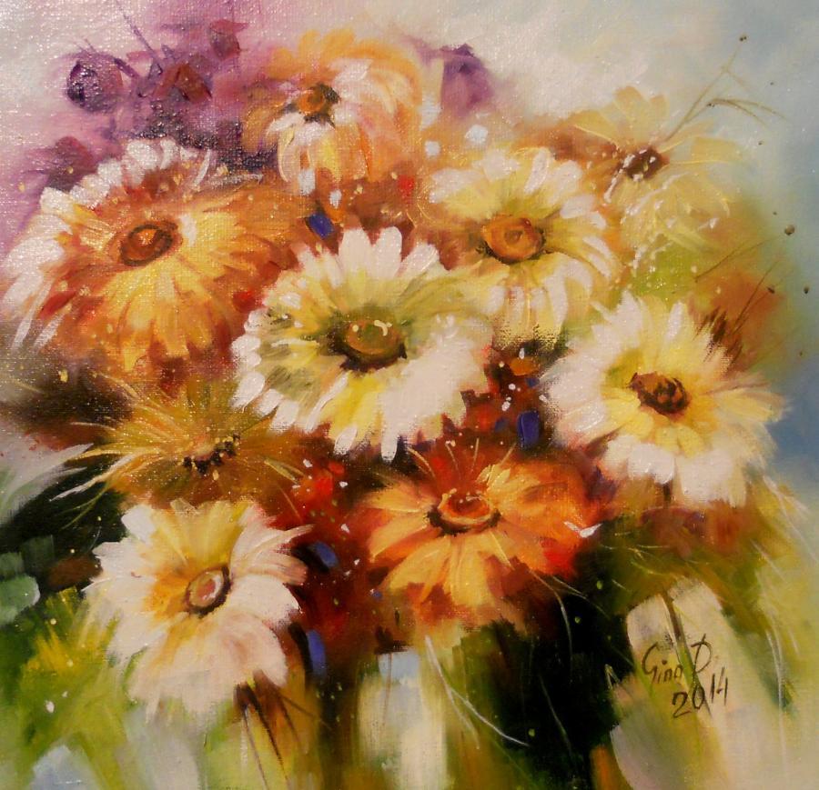 Picturi cu flori fantezie florala 3 2014